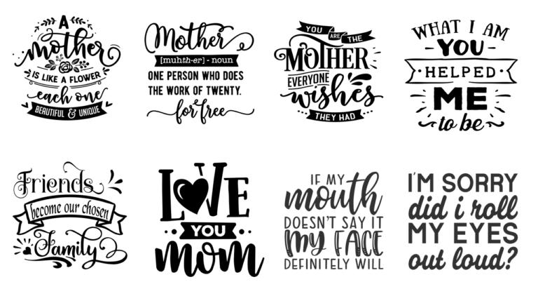 "12""x12"" Mom Stencils"