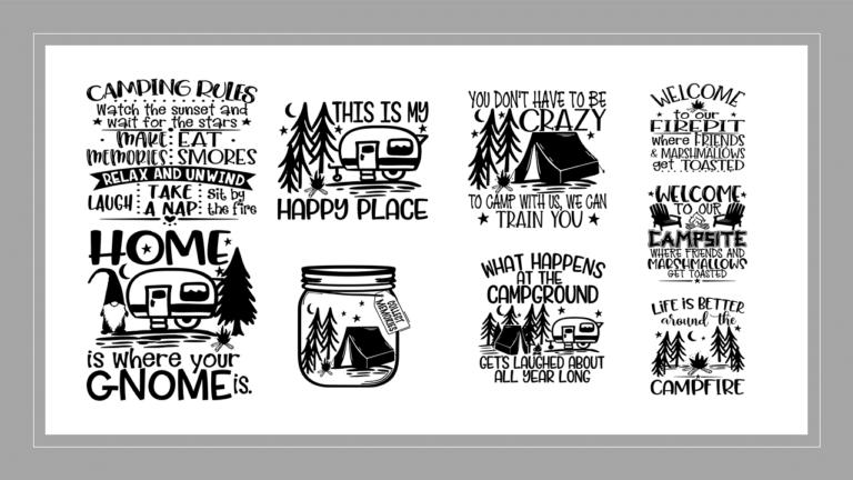 "12""x12"" Camping Stencils"