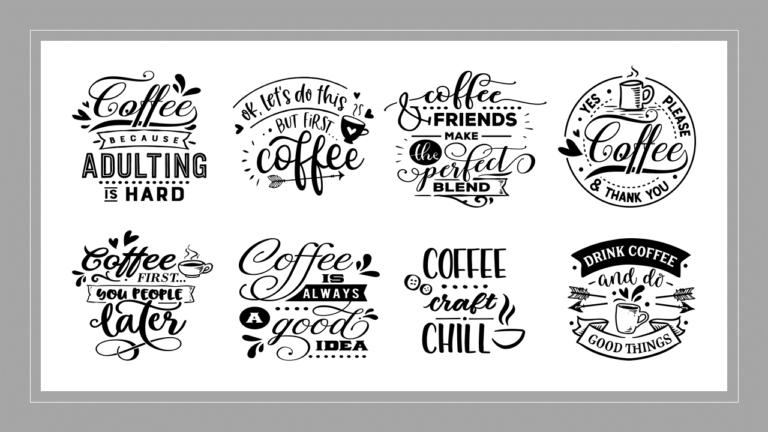 "12""x12"" Coffee Stencils"