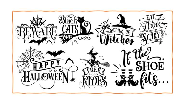 """12""""x12"""" Halloween Stencils"""